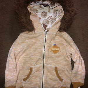 Genuine kids lion courage zip up hoodie